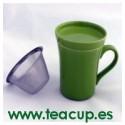 Taza con infusor Verde
