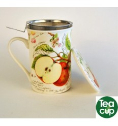 Taza de te con tapa apple